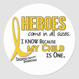 Heroes All Sizes 1 Child CHILDHOOD CANCER Classic Round Sticker
