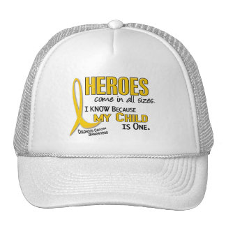 Heroes All Sizes 1 Child CHILDHOOD CANCER Hat