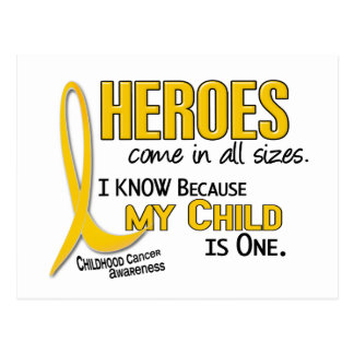 Heroes All Sizes 1 Child CHILDHOOD CANCER Postcard
