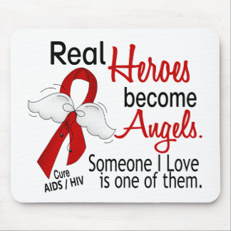 Heroes Become Angels AIDS Mousepads