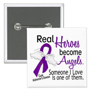 Heroes Become Angels Alzheimer's Disease 15 Cm Square Badge