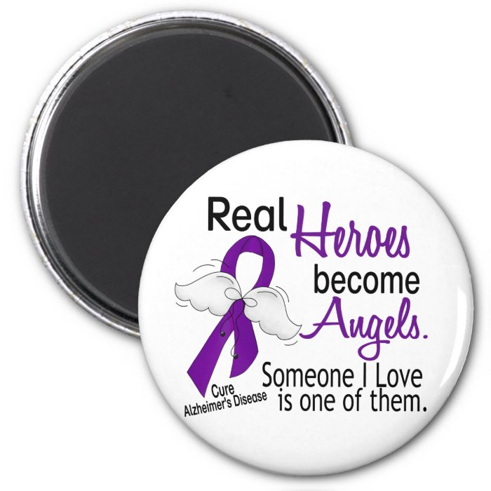 Heroes Become Angels Alzheimer's Disease 6 Cm Round Magnet
