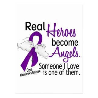 Heroes Become Angels Alzheimer's Disease Postcard