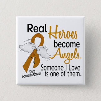 Heroes Become Angels Appendix Cancer 15 Cm Square Badge