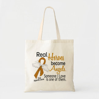 Heroes Become Angels Appendix Cancer Budget Tote Bag