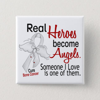 Heroes Become Angels Bone Cancer 15 Cm Square Badge