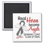 Heroes Become Angels Brain Tumour Square Magnet