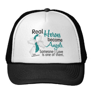 Heroes Become Angels Cervical Cancer Mesh Hat