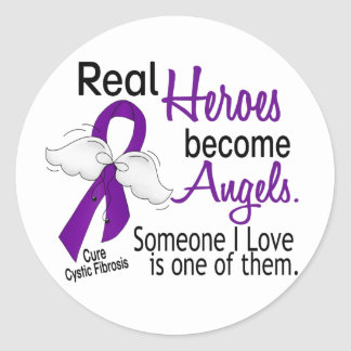 Heroes Become Angels Cystic Fibrosis Classic Round Sticker