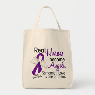 Heroes Become Angels Cystic Fibrosis Grocery Tote Bag