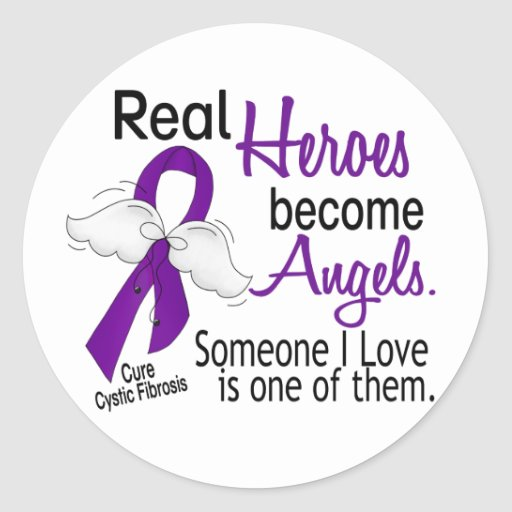 Heroes Become Angels Cystic Fibrosis Stickers