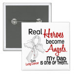 Heroes Become Angels Dad Lung Cancer Badges