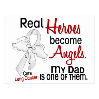 Heroes Become Angels Dad Lung Cancer Postcard
