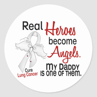 Heroes Become Angels Daddy Lung Cancer Sticker
