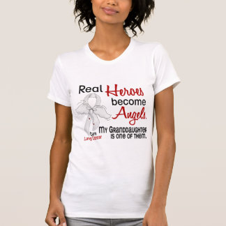 Heroes Become Angels Granddaughter Lung Cancer Tshirt