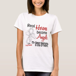 Heroes Become Angels Great Grandma Lung Cancer T-Shirt