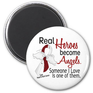 Heroes Become Angels Head And Neck Cancer 6 Cm Round Magnet