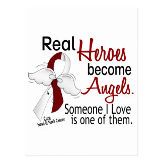 Heroes Become Angels Head And Neck Cancer Postcard