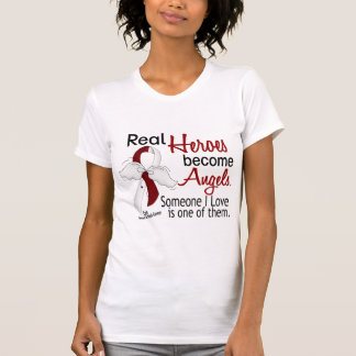 Heroes Become Angels Head And Neck Cancer Tee Shirt
