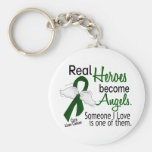 Heroes Become Angels Liver Cancer Basic Round Button Key Ring