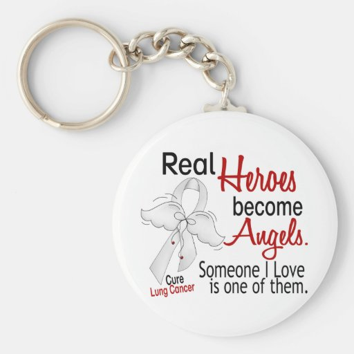 Heroes Become Angels Lung Cancer Key Chains