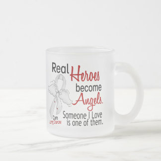 Heroes Become Angels Lung Cancer Coffee Mug