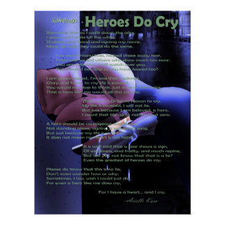 """Heroes Do Cry"" Poster"