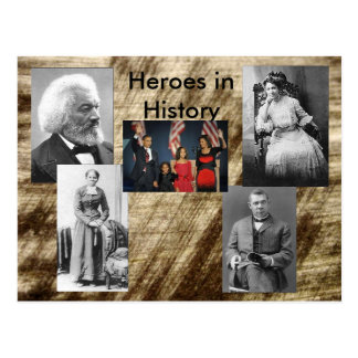 Heroes in History Collection - the story Postcards