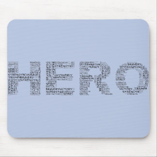 Heroes in the Fight Against Cancer (Black Text) Mouse Pad