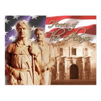 Heroes of the Alamo, San Antonio, Texas Postcard