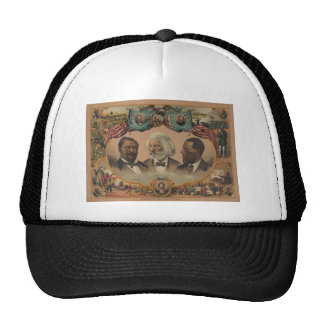 Heroes of the Colored Race 1881 Frederick Douglass Mesh Hats