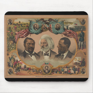 Heroes of the Colored Race 1881 Frederick Douglass Mousepad