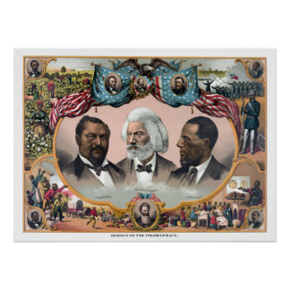 Heroes Of The Colored Race Poster