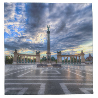 Heroes Square Budapest Sunrise Napkin