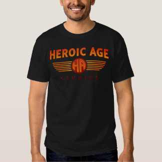 Heroic Age Studios large logo T plus back design T Shirts