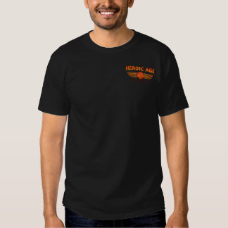 Heroic Age Studios small logo T plus back design Tee Shirts
