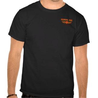 Heroic Age Studios small logo T plus back design Tee Shirts