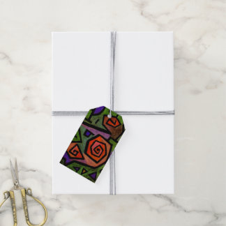 Heroic Roses by Paul Klee Abstract Art Gift Tags