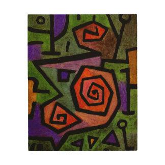 Heroic Roses by Paul Klee Abstract Wood Art Print