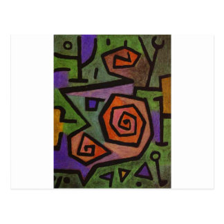Heroic Roses by Paul Klee Postcard
