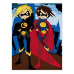 Heroic Superheroes Postcard