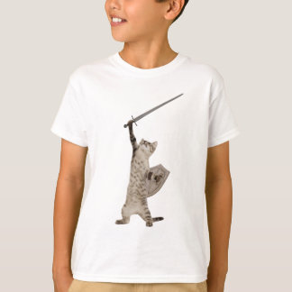 Heroic Warrior Knight Cat T-Shirt