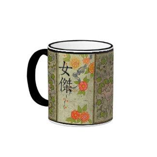 Heroine in Japanese Ringer Mug