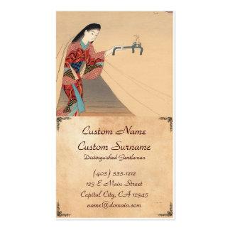 Heroine Toragozin Ishikawa Toraji japanese lady Double-Sided Standard Business Cards (Pack Of 100)