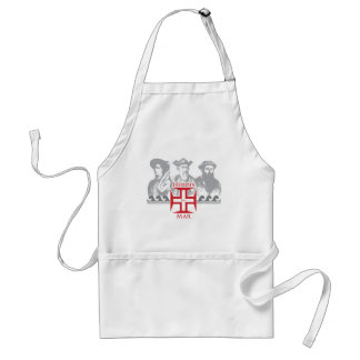 Herois do mar standard apron