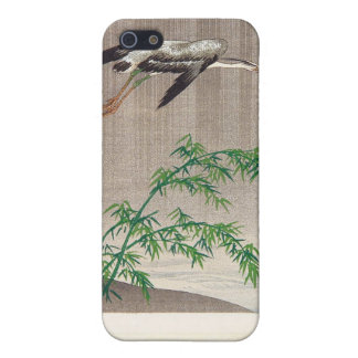 Heron and Bamboo Japanese Woodblock iPhone 5 Cases