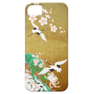 Heron and Dahlia B- Japanese Design iPhone Case