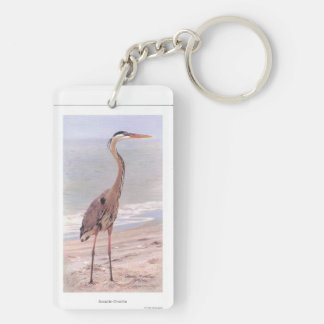 Heron and Friends Double-Sided Rectangular Acrylic Key Ring