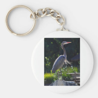 heron basic round button key ring