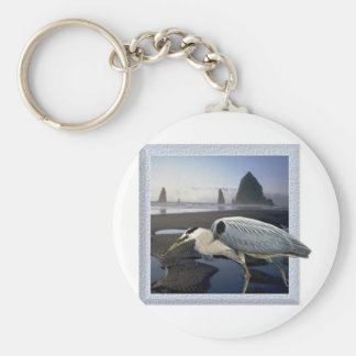 Heron Beach Key Chain